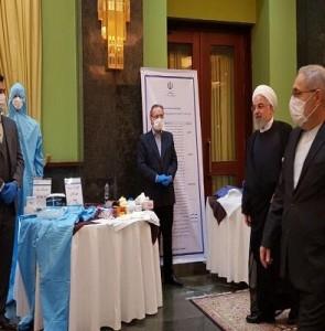 Rouhani visits knowledge-based companies' anti-coronavirus exhibition